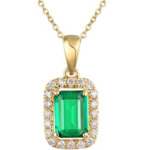 EMERALD DIAMOND PENDANT NECKLACE