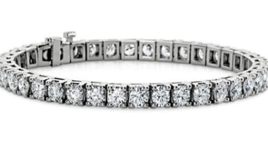 LADIES ROUND CUT DIAMOND TENNIS BRACELET