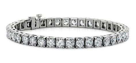 LADIES ROUND CUT DIAMOND TENNIS BRACELET